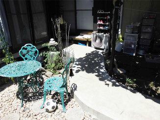 エクステリアリフォーム 車椅子も人も行き来しやすいお庭のスロープ