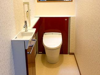 トイレリフォーム お客様お気に入りのトイレと、収納が充実した洗面所